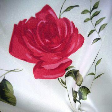 printed satin fabric(js-sh-11)
