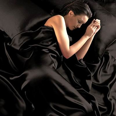4 pcs 19MM Pure Silk Fitted Sheets Set Queen size multi colors black(seams)