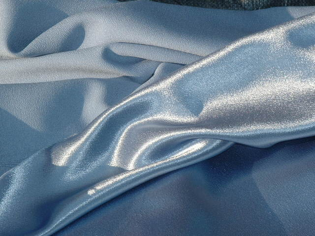 silk crepe satin plain fabric